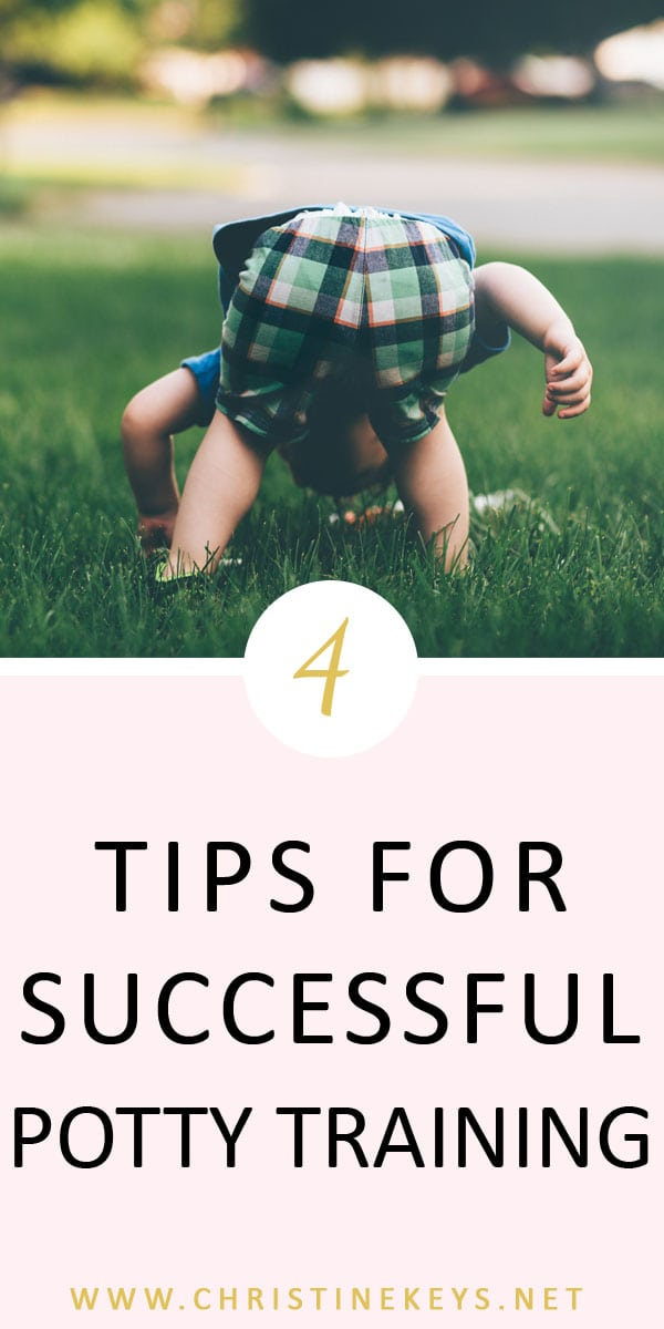 4 Tips For Successful Potty Training || Learn how to set yourself and your child up for success when it comes to potty training. #pottytraining #toddlers #parenting