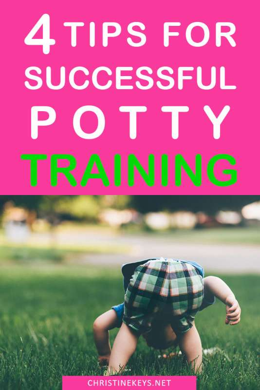 4 Tips for Successful Potty Training || Find out how to make potty training less stressful and more positive with these 4 tips. #pottytraining #toddler #baby #parenting