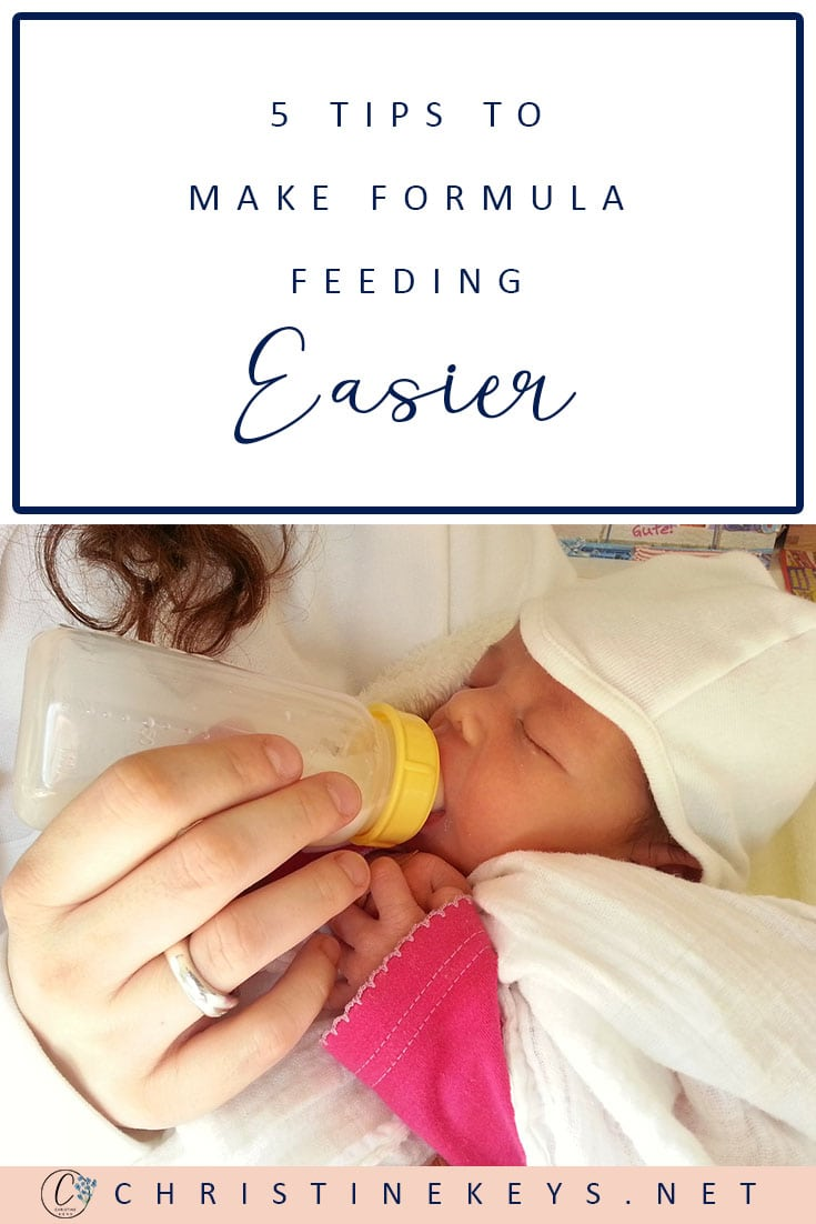 5 Tips To Make Formula Feeding Easier    Take the stress out of bottle feeding by using these helpful tips #fedisbest #formulafeeding #bottlefeeding #babies #motherhood #parenting