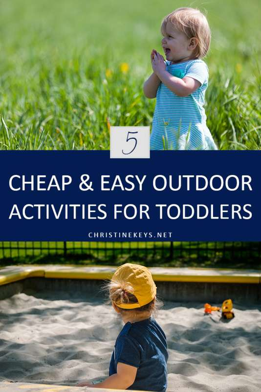 Pinterest image about outdoor activities for toddlers