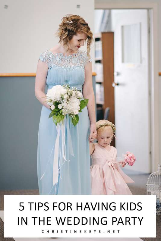 5 Tips for Having Kids in the Wedding Party || Find out the best advice for keeping things calm and running smoothly when you have kids in the wedding party. #wedding #parenting #kids