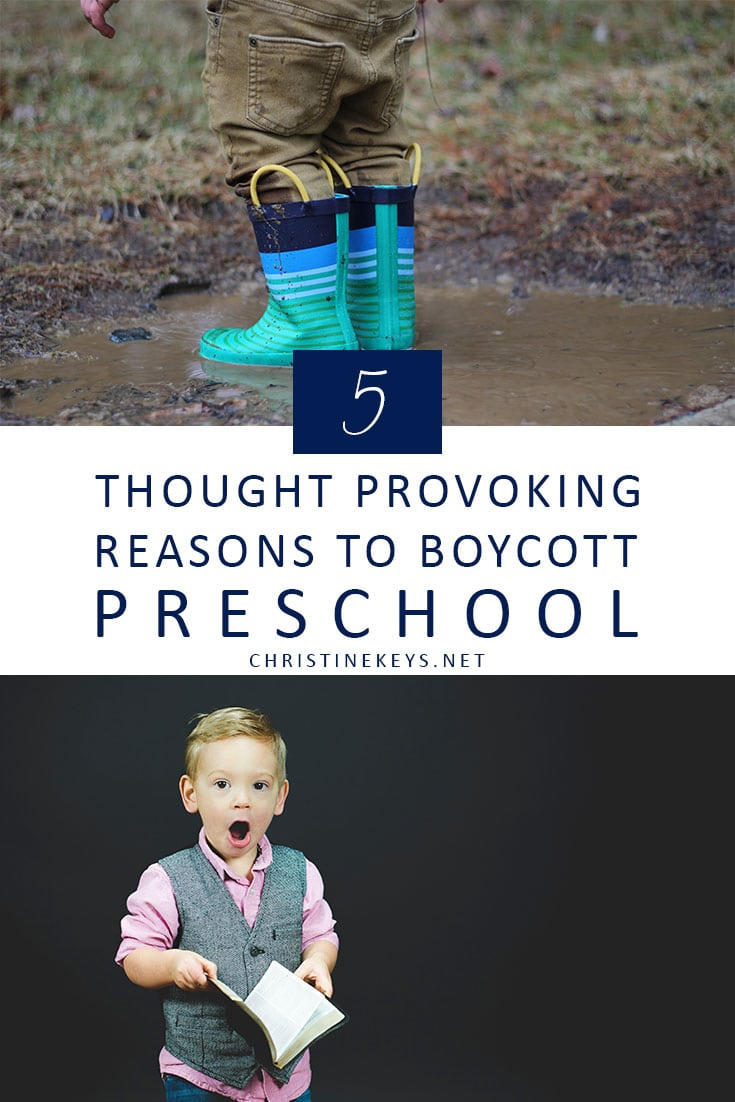 Toddler wearing gumboots