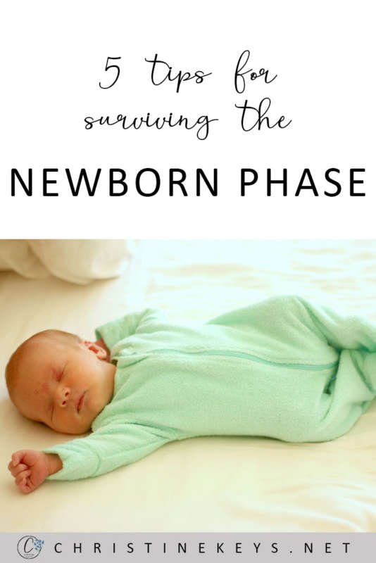 5 Tips For Surviving The Newborn Phase || It can be tough during the newborn stage, so use these tips to help you and your family make the most of it. #babies #babysleep #routines #motherhood #parenting