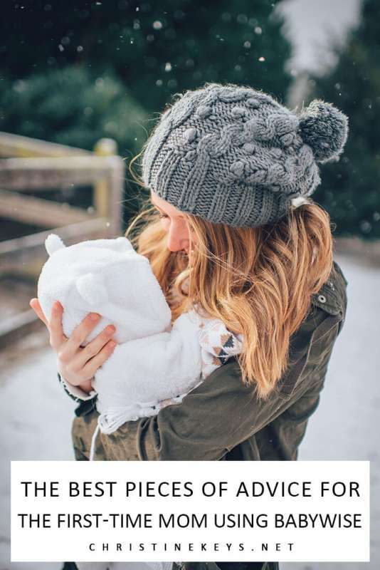 Pinterest image about babywise tips for first time moms