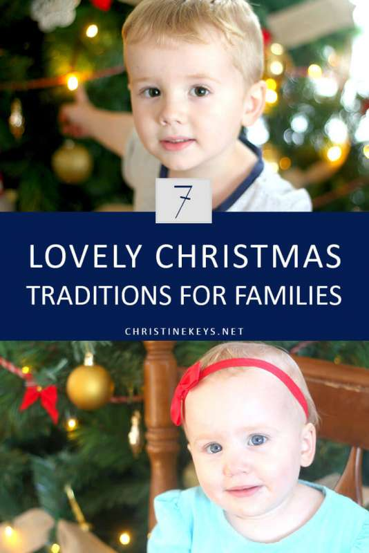 7 Lovely Christmas Traditions for Families || Looking for some new Christmas traditions? Take a look at this list of fun, family activities. #christmas #family #parenting #christmastraditions #holidays #motherhood #kids