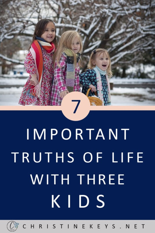 7 Important Truths of Life With Three Kids || Find out what it's really like having 3 kids and if it is as difficult as everyone says. #parenting #3kids #motherhood #kids #children #babies