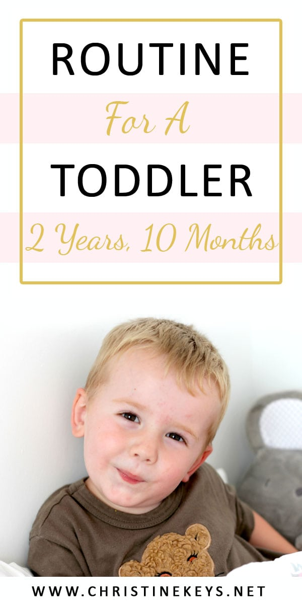 Routine For A Toddler | Jack's January 2018 Summary. Read about what Jack is learning and the milestones he is reaching. Also, the great daily routine we have going! #babywise #toddler #toddlersummary