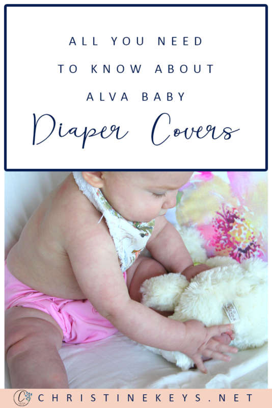 Pinterest image about everything you need to know about Alva Baby cloth diaper covers