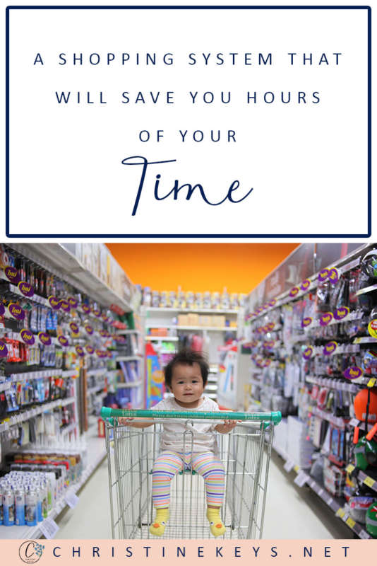 A Shopping System That Will Save You Hours of Your Time! || Get your free email guide to creating your own monthly meal plan and inventory. #homemaking #mealplan #shopping #budgeting #motherhood #organzing