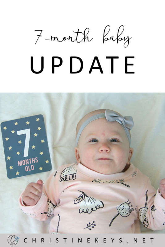 7-Month Baby Update || Here's our routine at 7-months as well as the products we've been enjoying. #babyupdate #baby #7months #babyproducts #motherhood #parenting