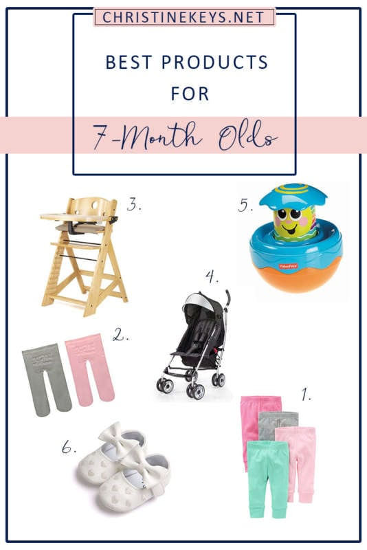 Best Products For 7-Month Olds! || Here's Annie's 7-month update along with the products we have been loving. #baby #toys #babyproducts #motherhood #parenting