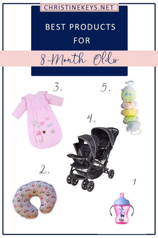 Best Products For 8-Month Olds!    Here is our routine at 8-months as well as the products we're loving. #baby #babies #8months #babyproducts #toys #babysleep #parenting #motherhood #babywise #routine #babyroutine #babyschedule #sleepschedule