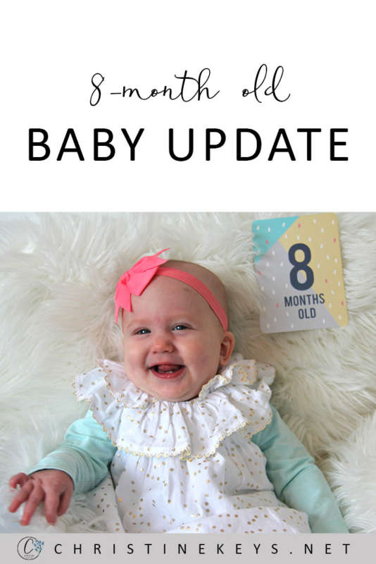 8-Month Old Baby Update! || Here is our routine at 8-months as well as the products we're loving. #baby #babies #8months #babyproducts #toys #babysleep #parenting #motherhood #babywise #routine #babyroutine #babyschedule #sleepschedule