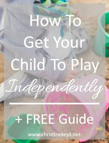 How To Get Your Child To Play Independently    Find out the trick to getting your child to play happily on their own. #babywise #independentplay #play #toddler #baby