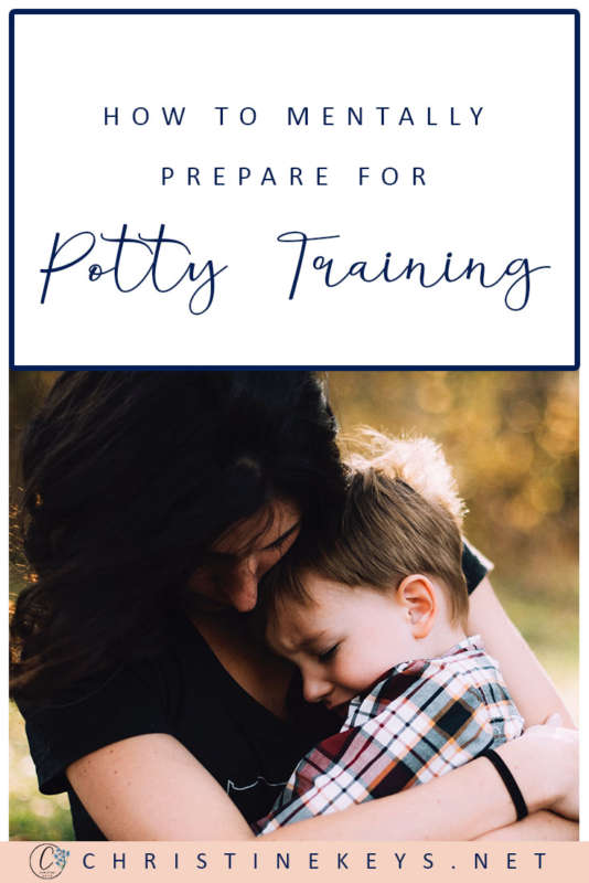 Pinterest image about how to prepare for potty training