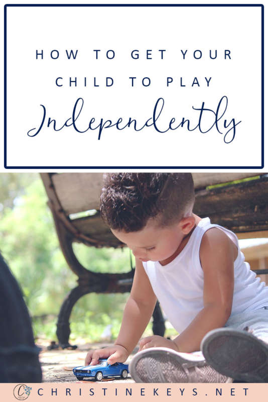 How To Get Your Child To Play Independently    Use these tips to work independent playtime into your child's daily routine. #chidlren #toddler #baby #parenting #babies #motherhood #routine
