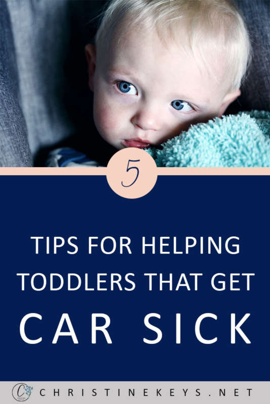 5 Tips For Helping Toddlers That Get Car Sick || Use these strategies to avoid motion sickness for your toddler. #parenting #travel #family #toddlers #motherhood #parentinghacks