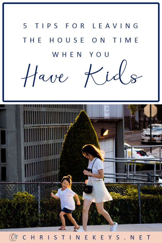 5 Tips For Leaving The House On Time When You Have Kids || Use these strategies to stay on time and avoid being late even when you have small children. #parenting #motherhood #toddlers #babies #parentinghack #routine #schedule #timemanagement