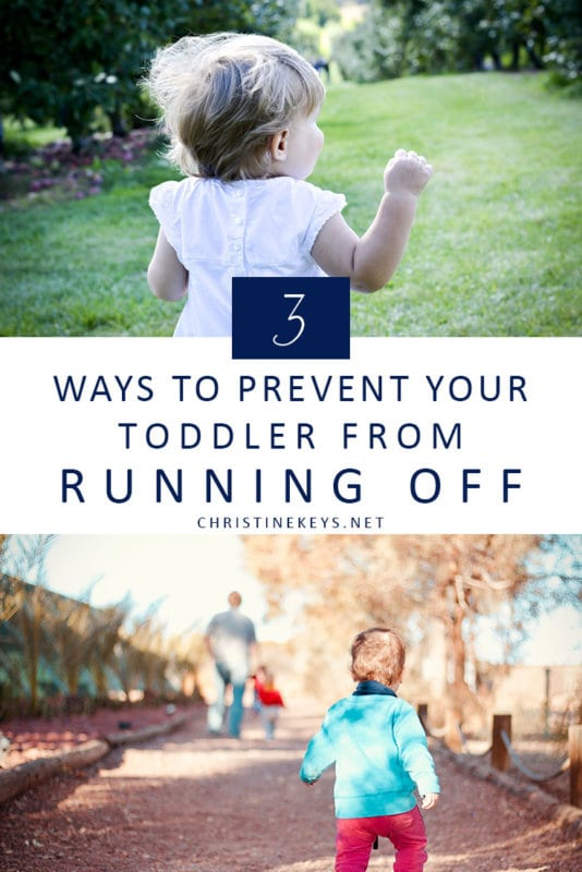Infographic about preventing your toddler from running off