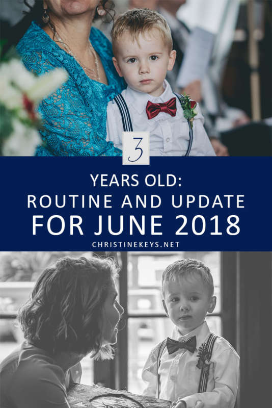 3 Years Old: Routine And Update For June 2018 || Here is Jack's routine and update for June 2018. Find out how we dealt with some sleep and behaviour challenges this month. #parenting #toddler #behaviour #wedding #pageboy #motherhood #routine #toddlerroutine #toddlerproducts