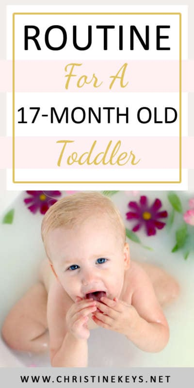Routine For A 17-Month Old Toddler | Looking for a toddle routine? Here is what was working for us at 17 months. This is Annie's March 2018 summary, and it includes her eating habits, milestones, developments, and sleeping routine. #toddlersummary #babywise #march