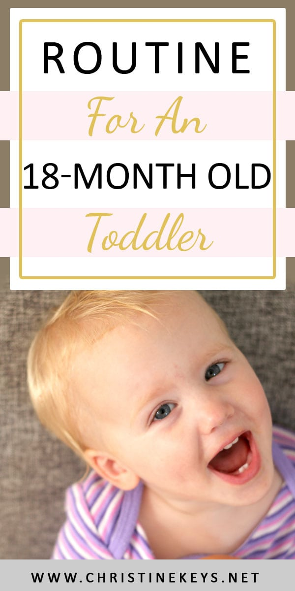 Routine For An 18-Month Old Toddler | Find out what our toddlers routine looks like at 18 months of age. This is Annie's April 2018 summary. #routine #toddler #toddlerroutine #sleepschedule #toddlertoys #toddlerproducts