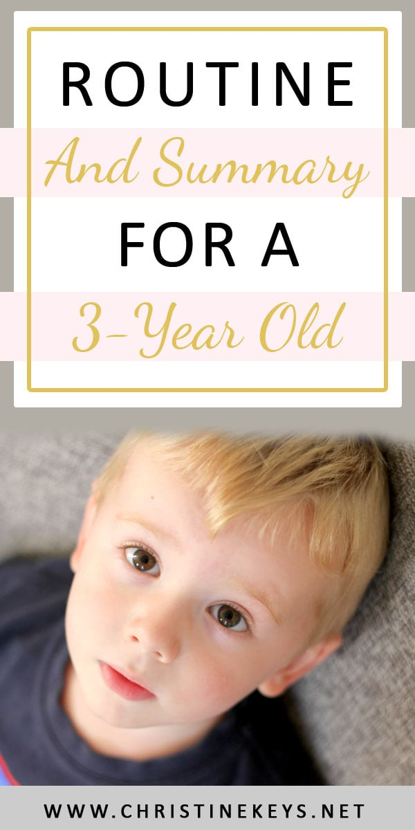 Routine and Summary For A 3-Year Old | Find out what nap times and bed times look like for a 3-year old. #babywise #3yearold #naproutine