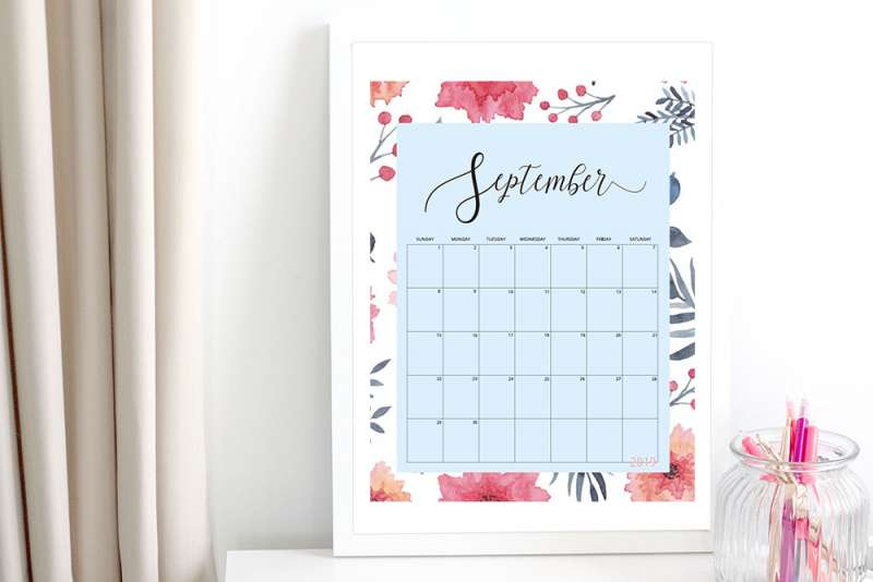 Free Floral 2019 Calendars