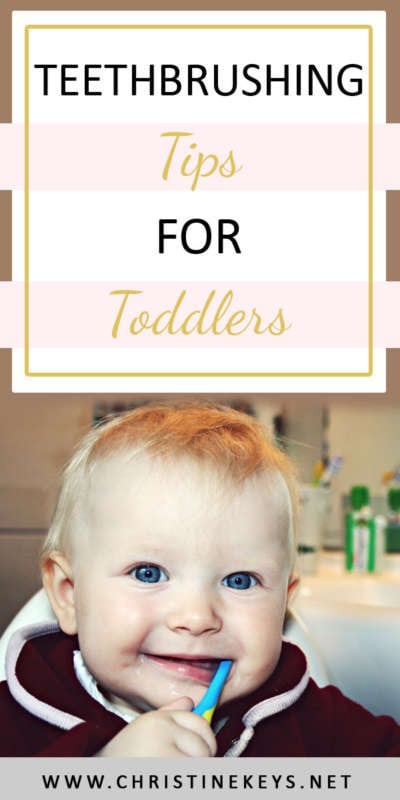 Teethbrushing Tips For Toddlers | Teach your child to brush their teeth with these 8 easy steps. Make the chore of brushing teeth fun and enjoyable for all! #toddlers #toddlerskills #parenting #dentalhygiene
