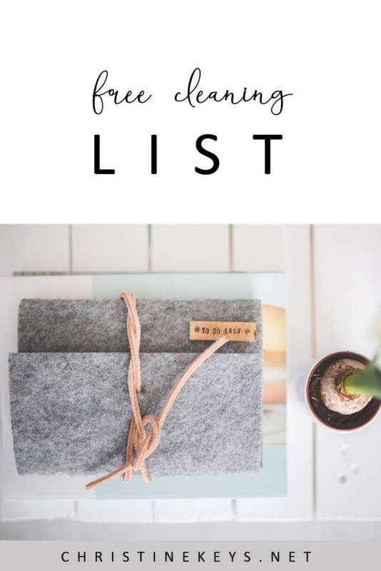 The Cleaning List That Saved My Sanity    Get your FREE cleaning list and make your life easier and less stressful! #cleaning #housekeeping #organising #motherhood