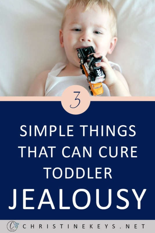 3 Simple Things That Can Cure Toddler Jealousy || Use these three tips when you're toddler is experiencing jealousy. #parenting #babies #toddlers #siblings #motherhood