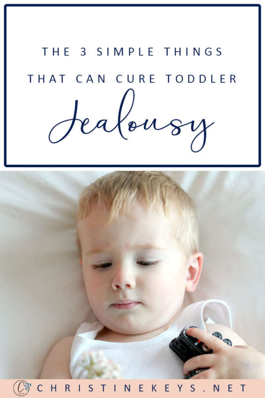 The 3 Simple Things That Can Cure Toddler Jealousy || Use these three tips when you're toddler is experiencing jealousy. #parenting #babies #toddlers #siblings #motherhood