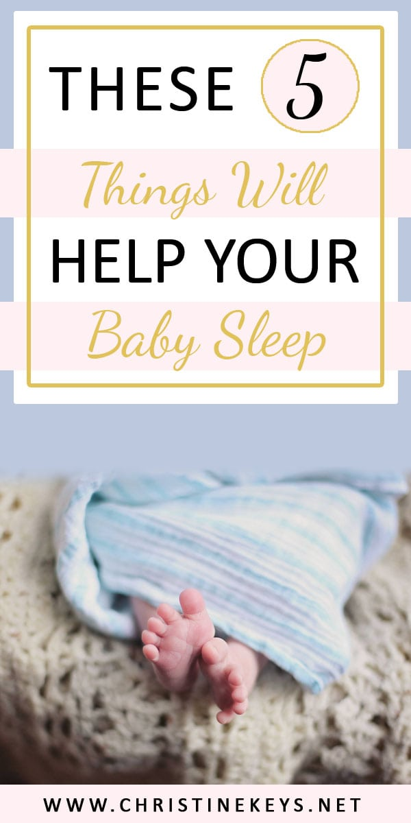 These 5 Things Will Help Your Baby Sleep | Find out what awesome baby items there are for getting your baby to go to sleep and stay asleep. #babysleep #babyproducts