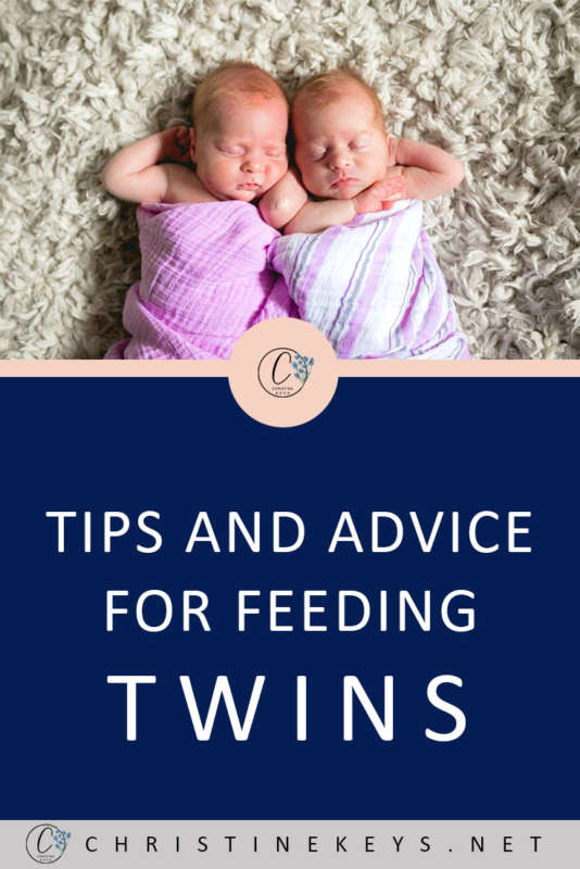 Tips and Advice For Feeding Twins || Get some awesome advice from an experienced twin-mama about how to make feeding twins easier. #twins #babies #newborns #motherhood #parenting #fedisbest #breastfeeding