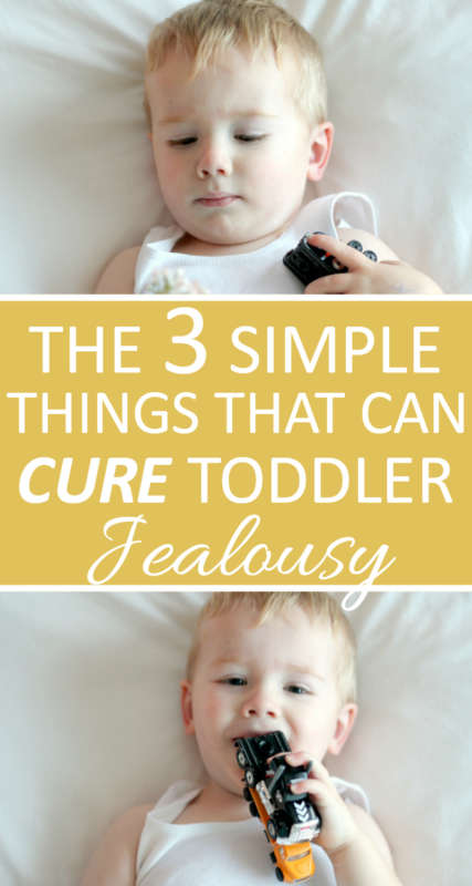 3 Simple Things To Cure Toddler Jealousy | Use these 3 simple steps to eradicate feelings of jealousy in your toddler. Leave your mama-guilt behind and enjoy your babies!