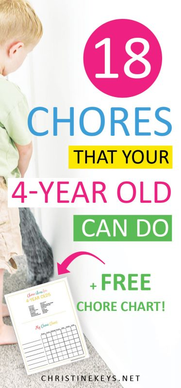 Child dusting with text about chores