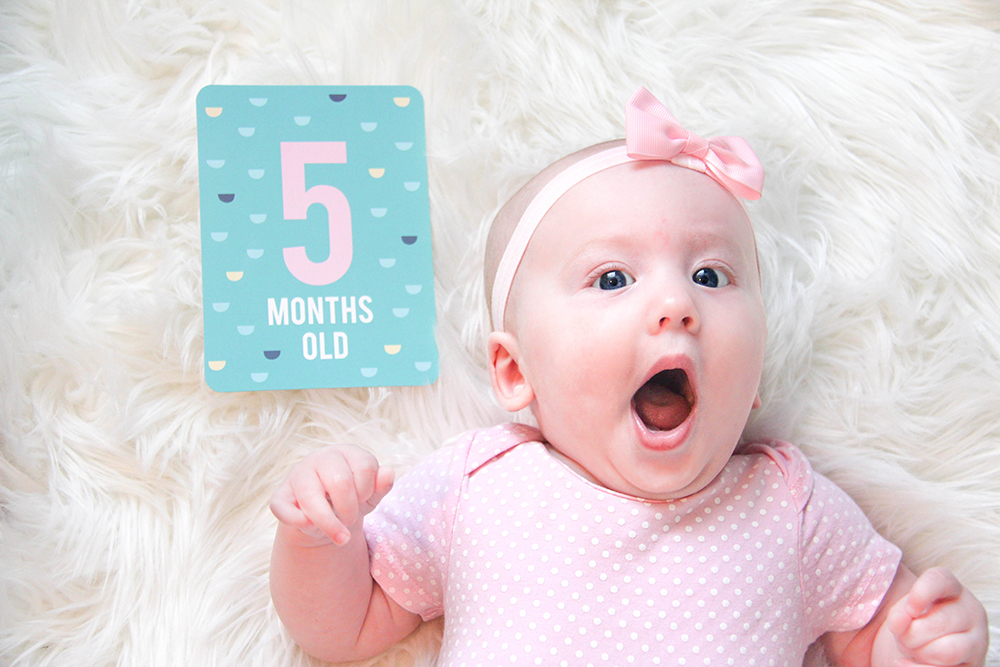 5 month old baby yawning
