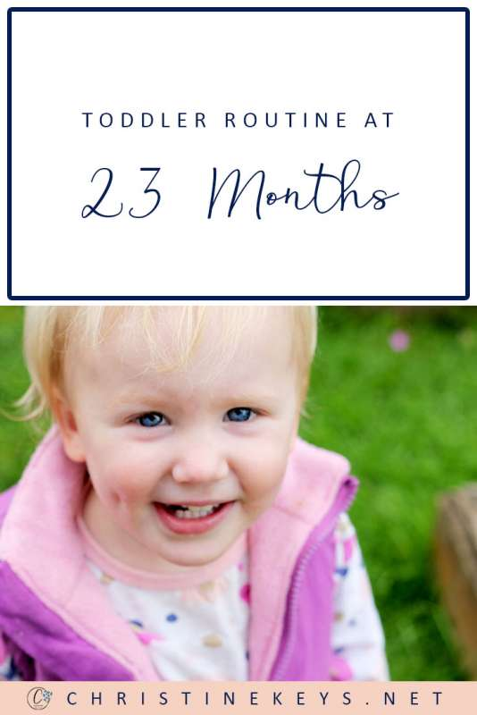 Toddler Routine at 23-Months || Find out Annie's routine and summary for the month of September. #toddlers #parenting #routine #sleep #babywise #toddlerwise