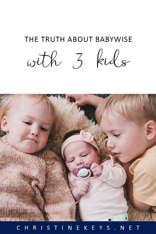 The Truth About Babywise With 3 Kids || Find out how Babywise simplifies things and makes life easier when you have three children. #babywise #parenting #3kids #motherhood #babies #sleep #schedule #routines