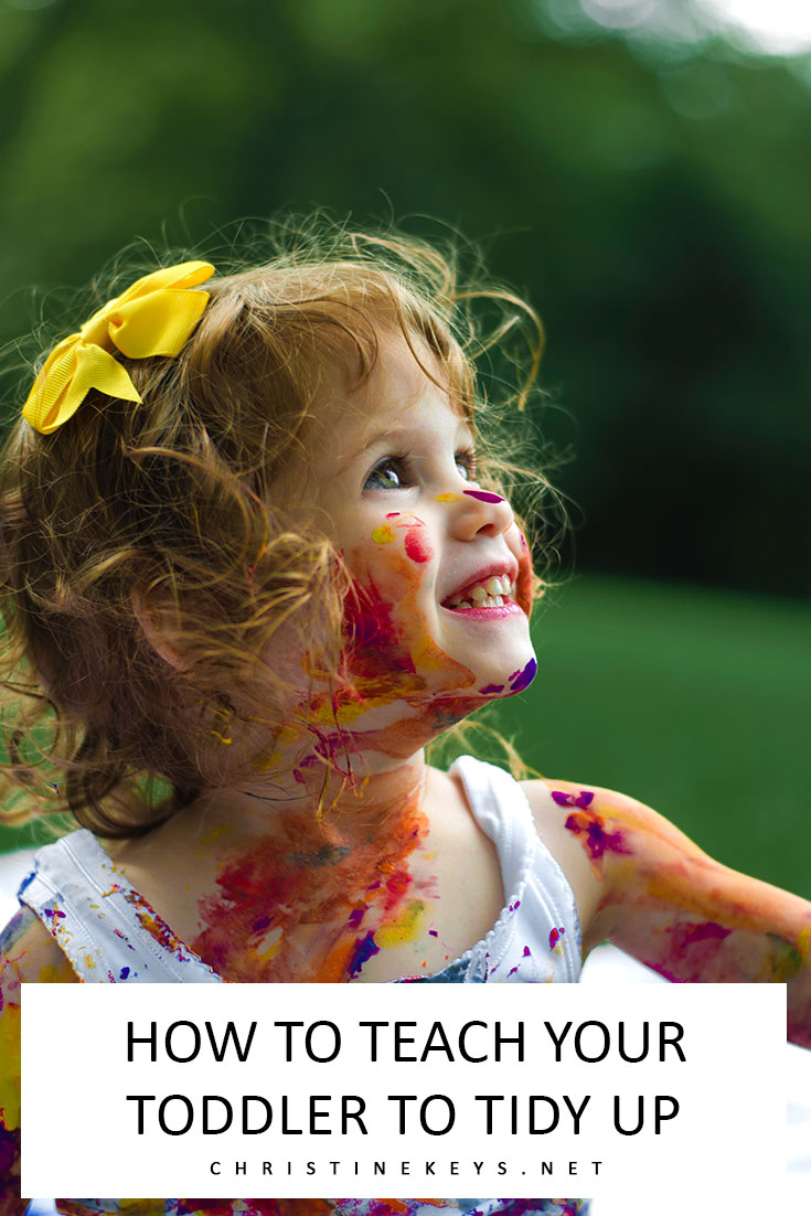Little girl with paint all over her face