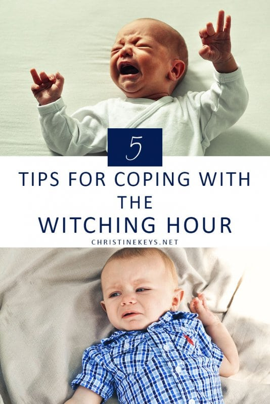 5 Tips for Coping With the Witching Hour || Fine out some key strategies that will help get you and your baby through the witching hour. #parenting #babies #routine #babysleep #newborn #motherhood #witchinghour