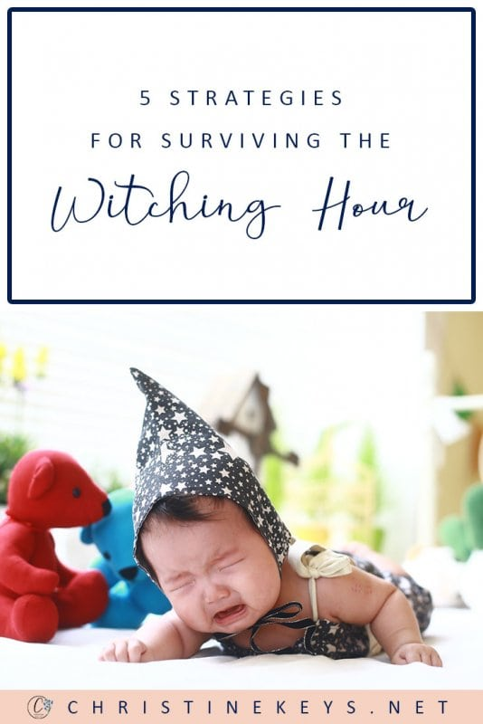 5 Tips for Surviving the Witching Hour || Fine out some key strategies that will help get you and your baby through the witching hour. #parenting #babies #routine #babysleep #newborn #motherhood #witchinghour
