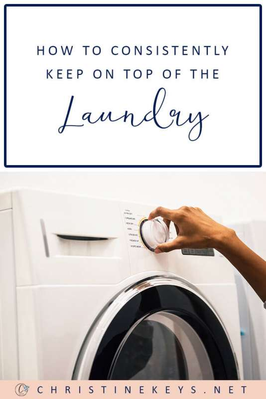 How to Consistently Keep on Top of the Laundry || Use these 4 tips to help keep the washing pile down and maintain a regular routine. #homemaking #cleaninghack #motherhood #parenting #washing #laundry