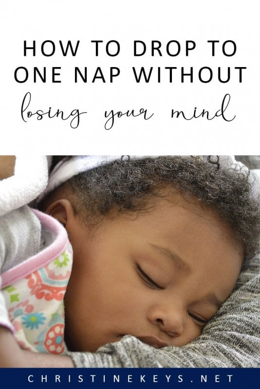 How to Drop to One Nap Without Losing Your Mind || Find out what 5 tips can help to make the 2-1 nap transition go as smoothly as possible. #toddlers #sleep #naps #parenting #motherhood #routine