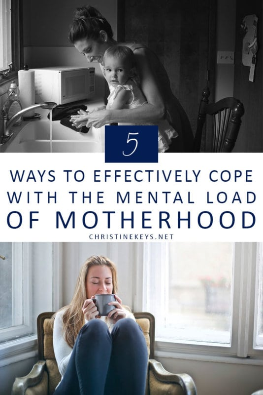 5 Ways to Effectively Cope With the Mental Load of Motherhood || Use these strategies to help manage the mental load that comes with being a mother. Stop feeling overwhelmed and start feeling productive! #motherhood #mentalload #mentalhealth #parenting #selfcare