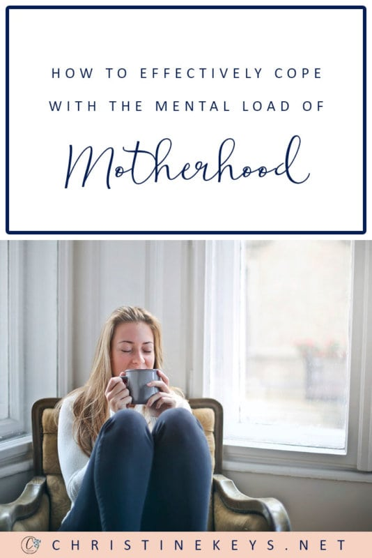 How to Effectively Cope With the Mental Load of Motherhood || Use these strategies to help manage the mental load that comes with being a mother. Stop feeling overwhelmed and start feeling productive! #motherhood #mentalload #mentalhealth #parenting #selfcare