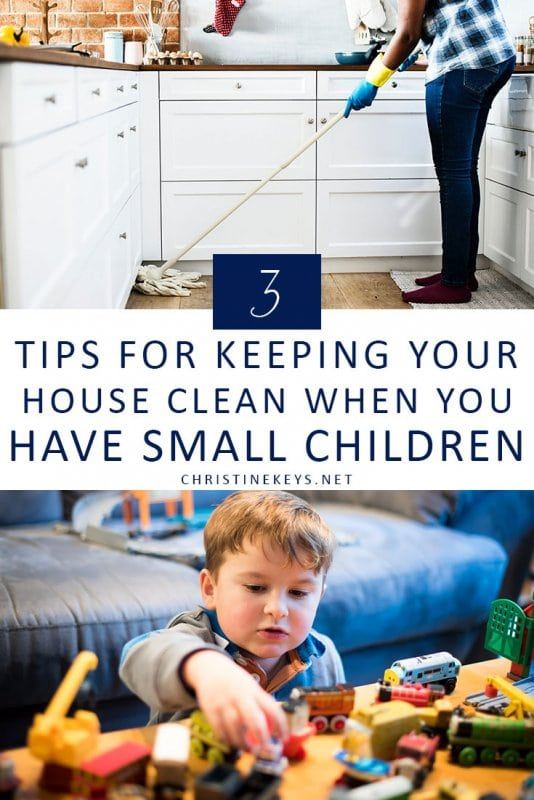 3 Tips for Keeping Your House Clean When You Have Small Children || It may seem impossible but there are some simple things you can implement to keep your home clean even when you have babies and toddlers. #parenting #cleaning #home #motherhood #homemaking