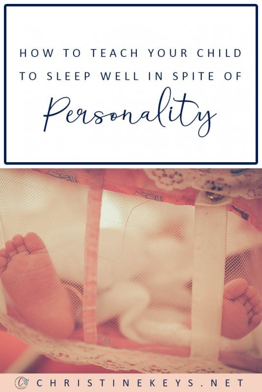 How to Teach Your Child to Sleep Well in Spite of Personality || Sleep can definitely be influenced by genetics and personality, but it doesn't mean that you can't still teach your child healthy sleep habits. Find out how in this post. #babysleep #sleeptraining #motherhood #parenting #babies #children #sleep