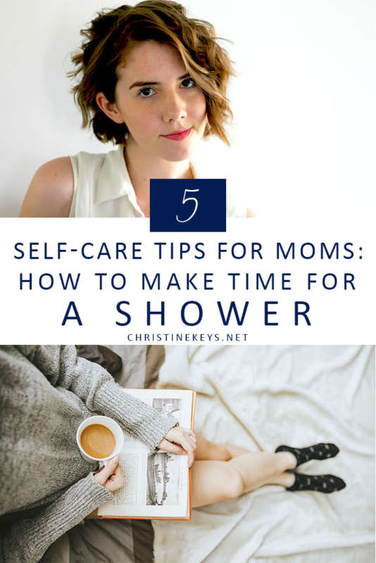 Pinterest image about self care for moms