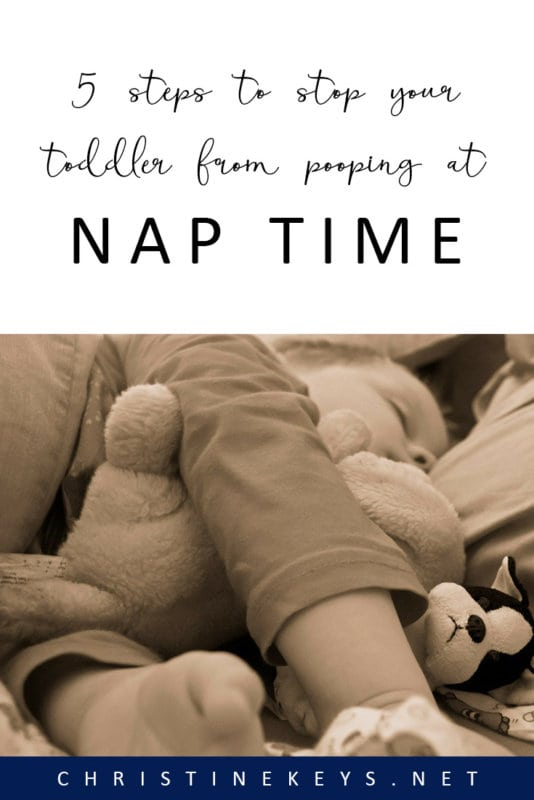 5 Steps to Stop Your Toddler from Pooping at Nap Time || If you're wondering how to get your toddler to stop pooping during nap time then try these 5 strategies! #parenting #pottytraining #toddlers #naptime #motherhood
